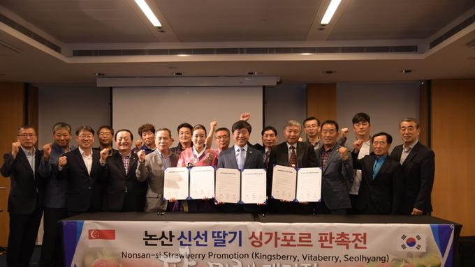 황명선 논산시장, 딸기 '특급' 세일즈 행정