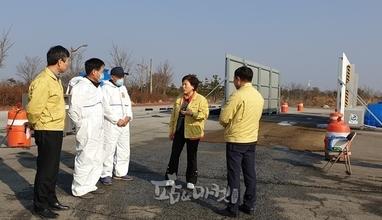 김제시 농업기술센터 소장 방역초소 방문‧격려