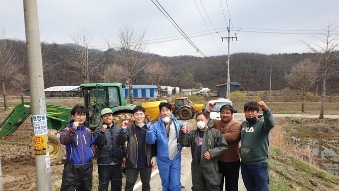 안성시농업기술센터, 토양개량제 공동살포