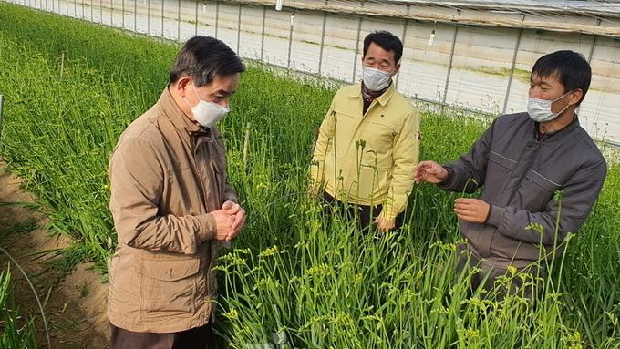 노박래 서천군수, 영농현장 방문 농가 격려